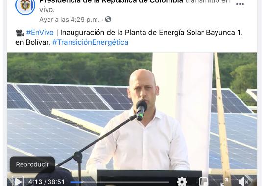 Inauguración Planta de Energía solar - Bayunca I